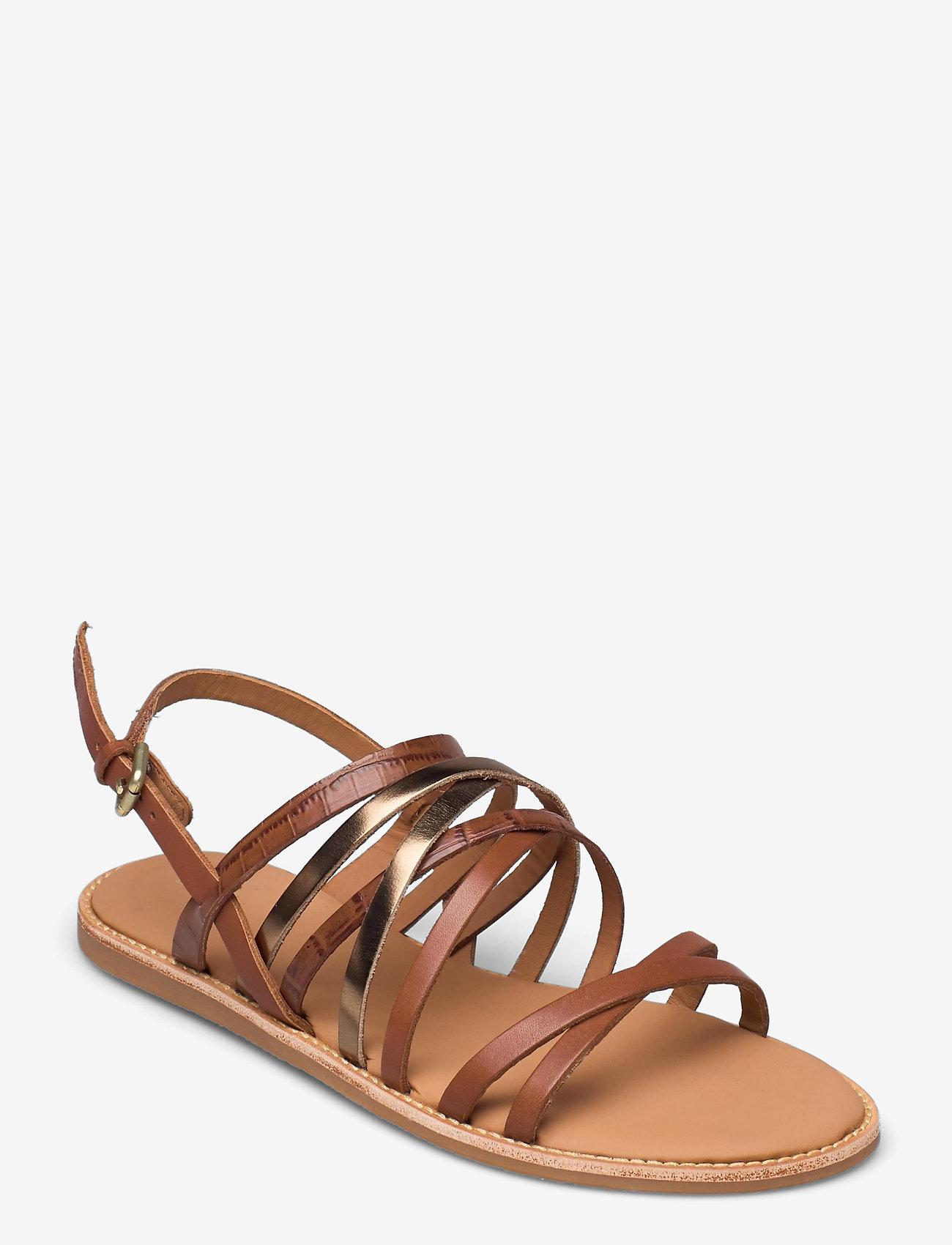 Clarks - Karsea Ankle - platta sandaler - tan leather - 0