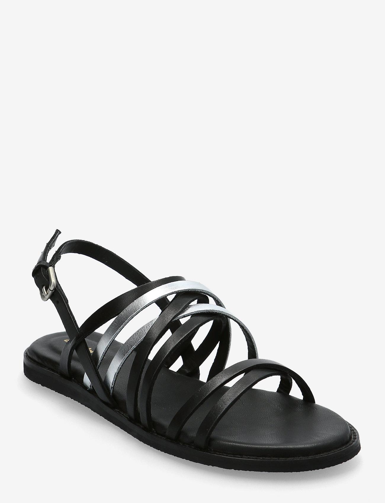 Clarks - Karsea Ankle - platta sandaler - black combi lea - 0