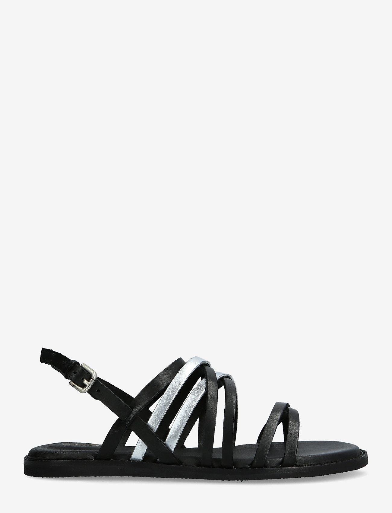 Clarks - Karsea Ankle - platta sandaler - black combi lea - 1