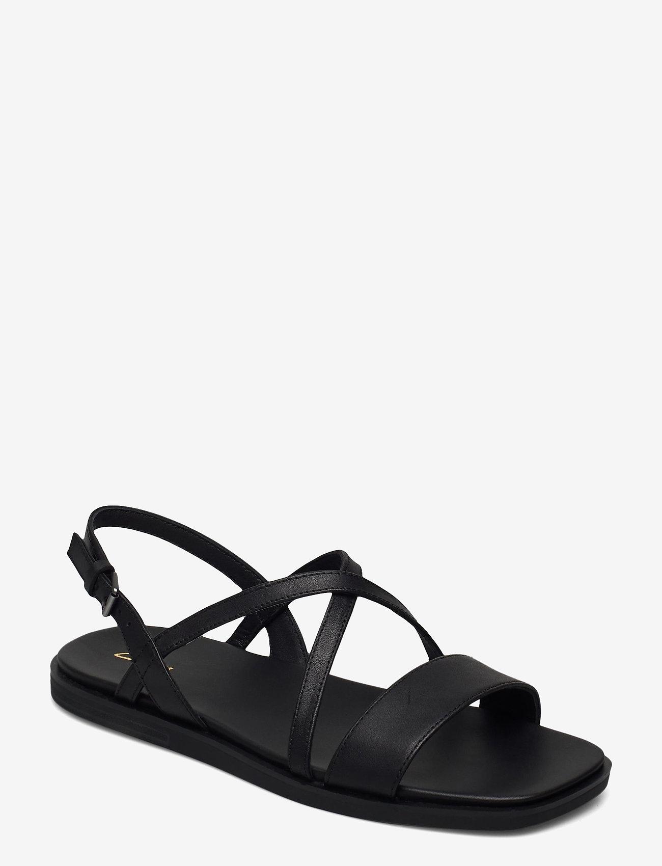 Clarks - Ofra Strap - platta sandaler - black leather - 0