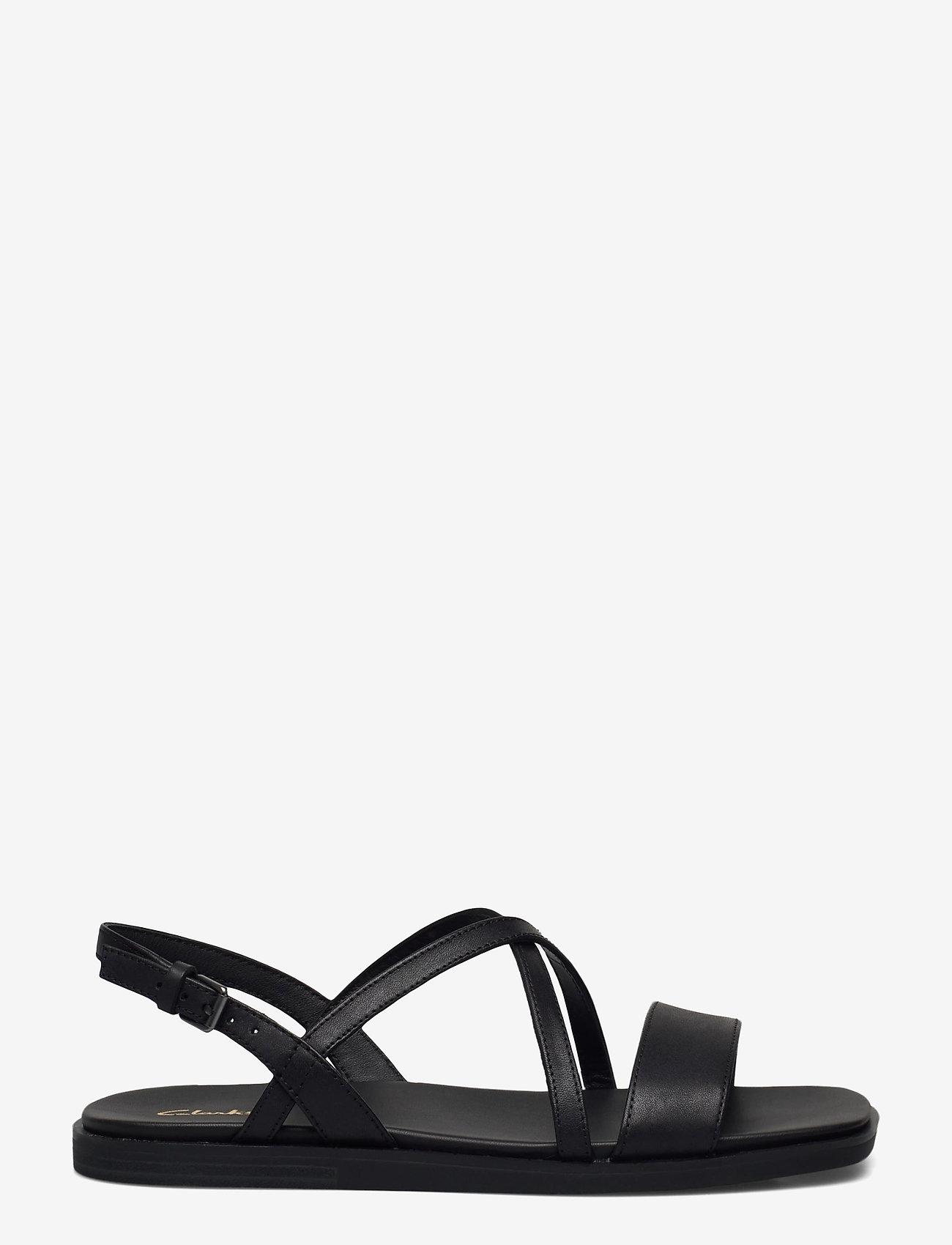 Clarks - Ofra Strap - platta sandaler - black leather - 1