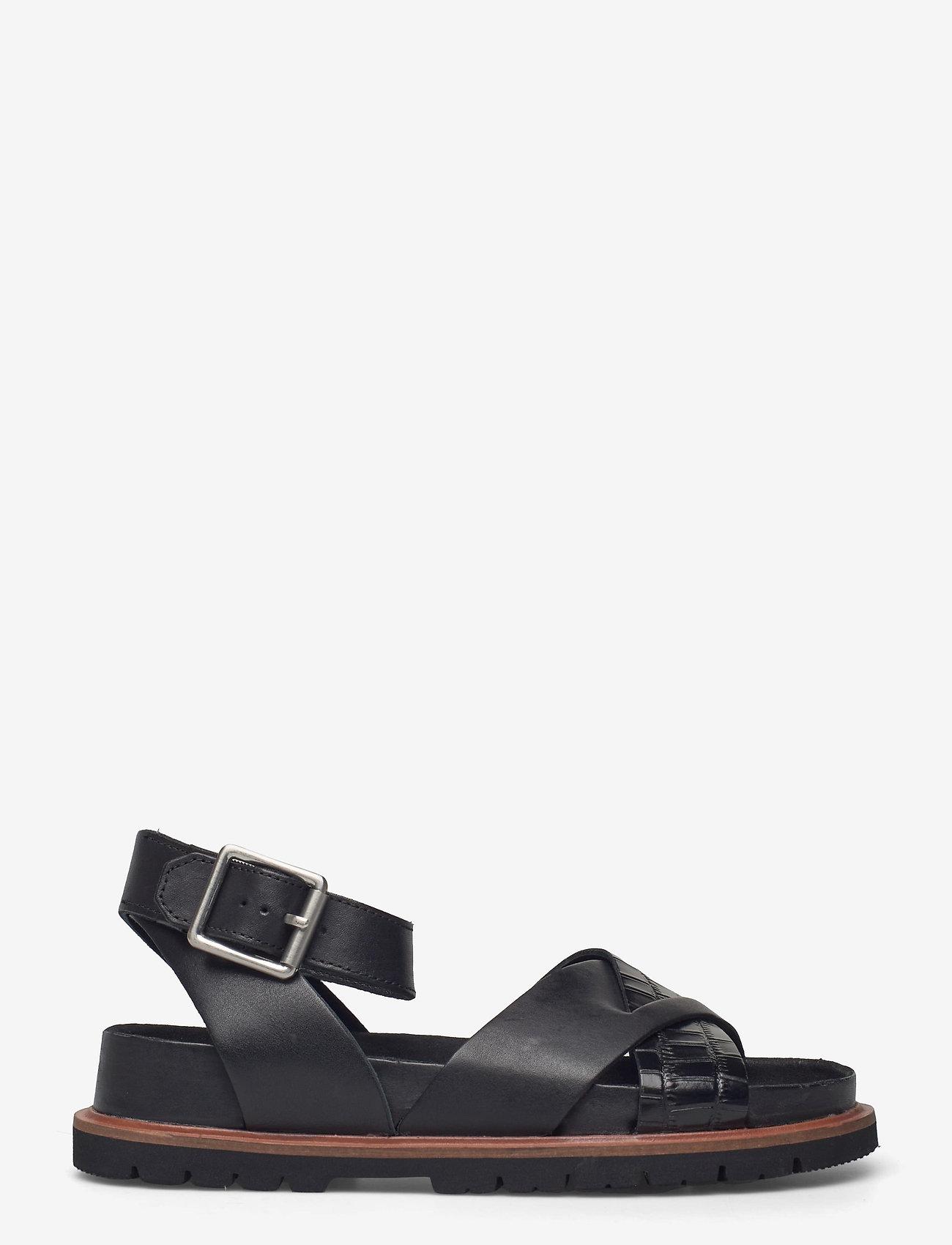 Clarks - Orianna Cross - platta sandaler - black combi lea - 1