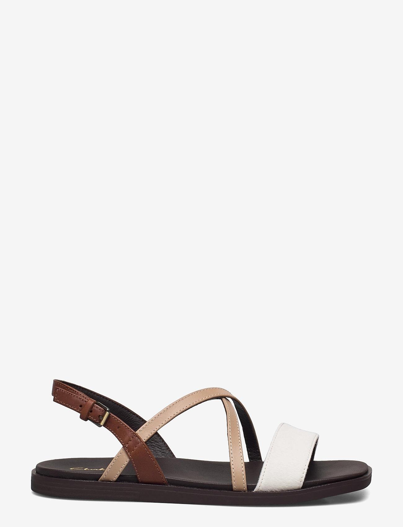 Clarks - Ofra Strap - platta sandaler - taupe combi lea - 0
