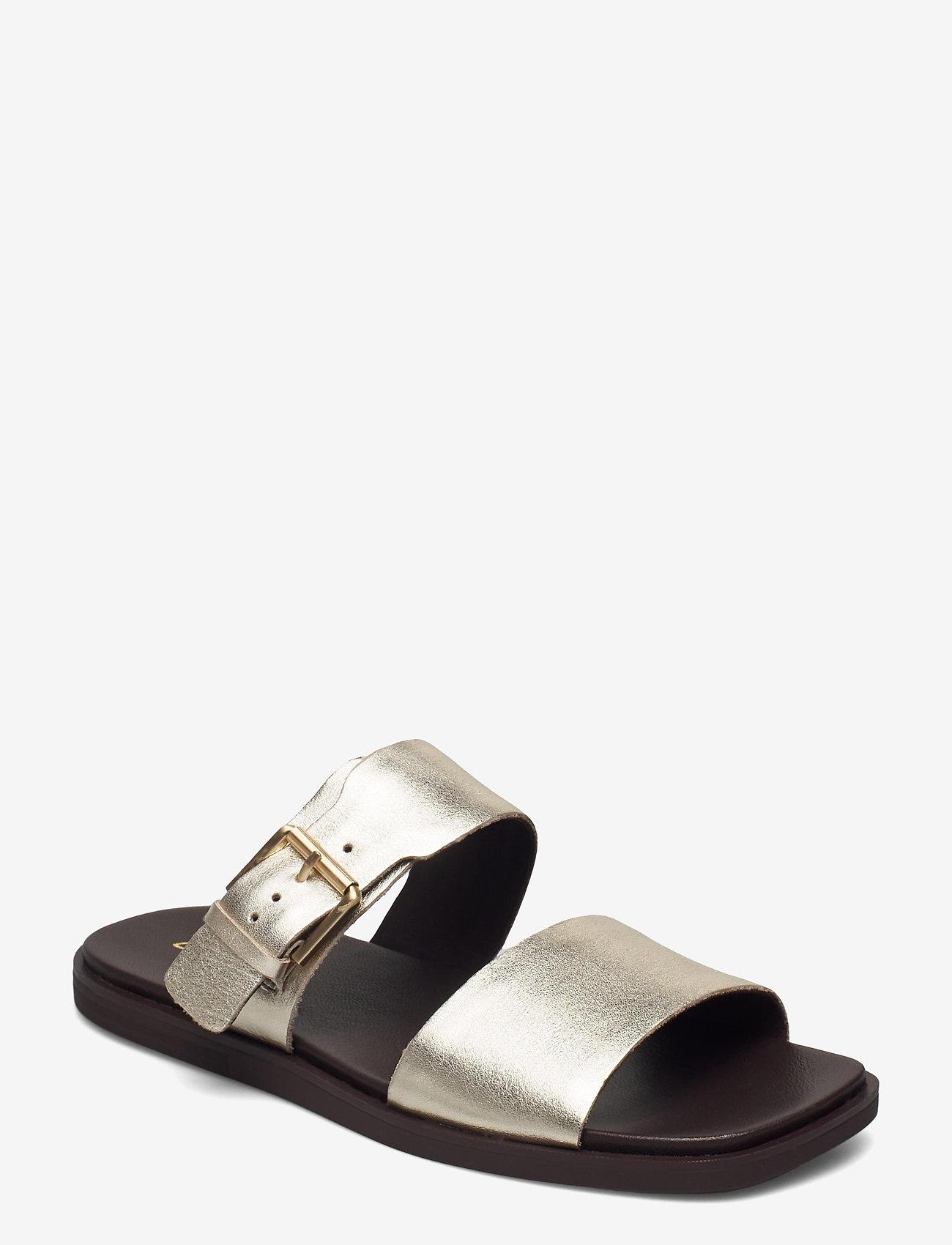 Clarks - Ofra Slide - platta sandaler - champagne - 0