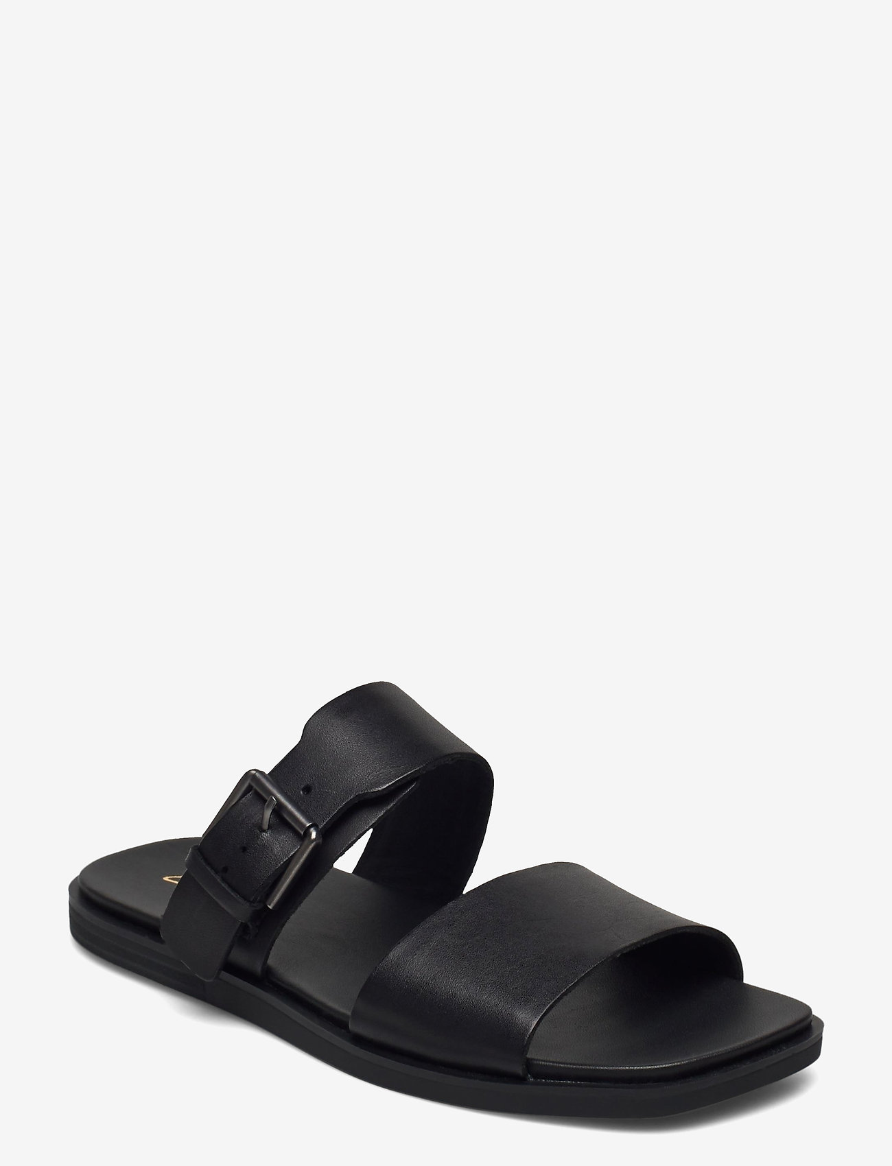 Clarks - Ofra Slide - platta sandaler - black leather - 0