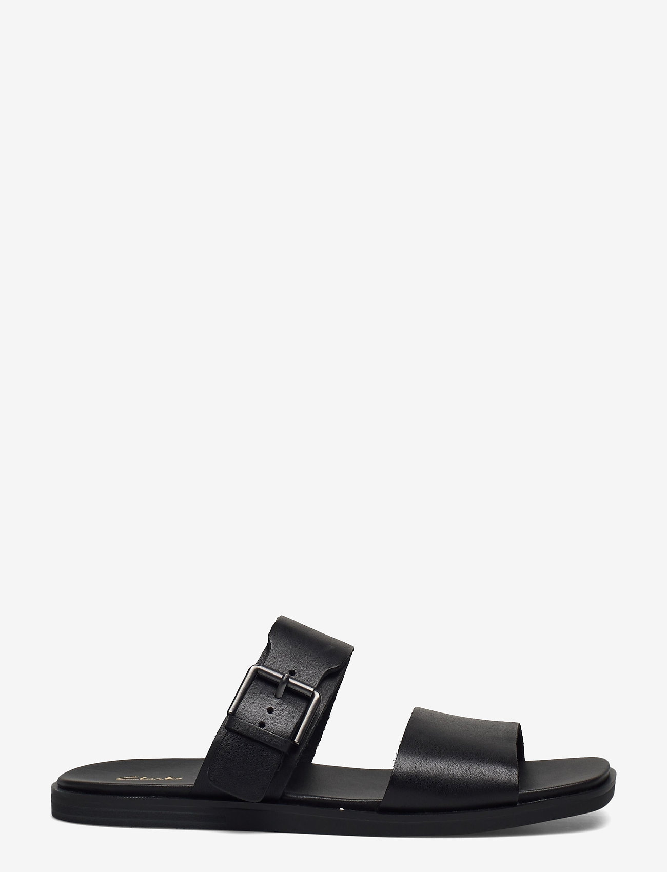 Clarks - Ofra Slide - platta sandaler - black leather - 1