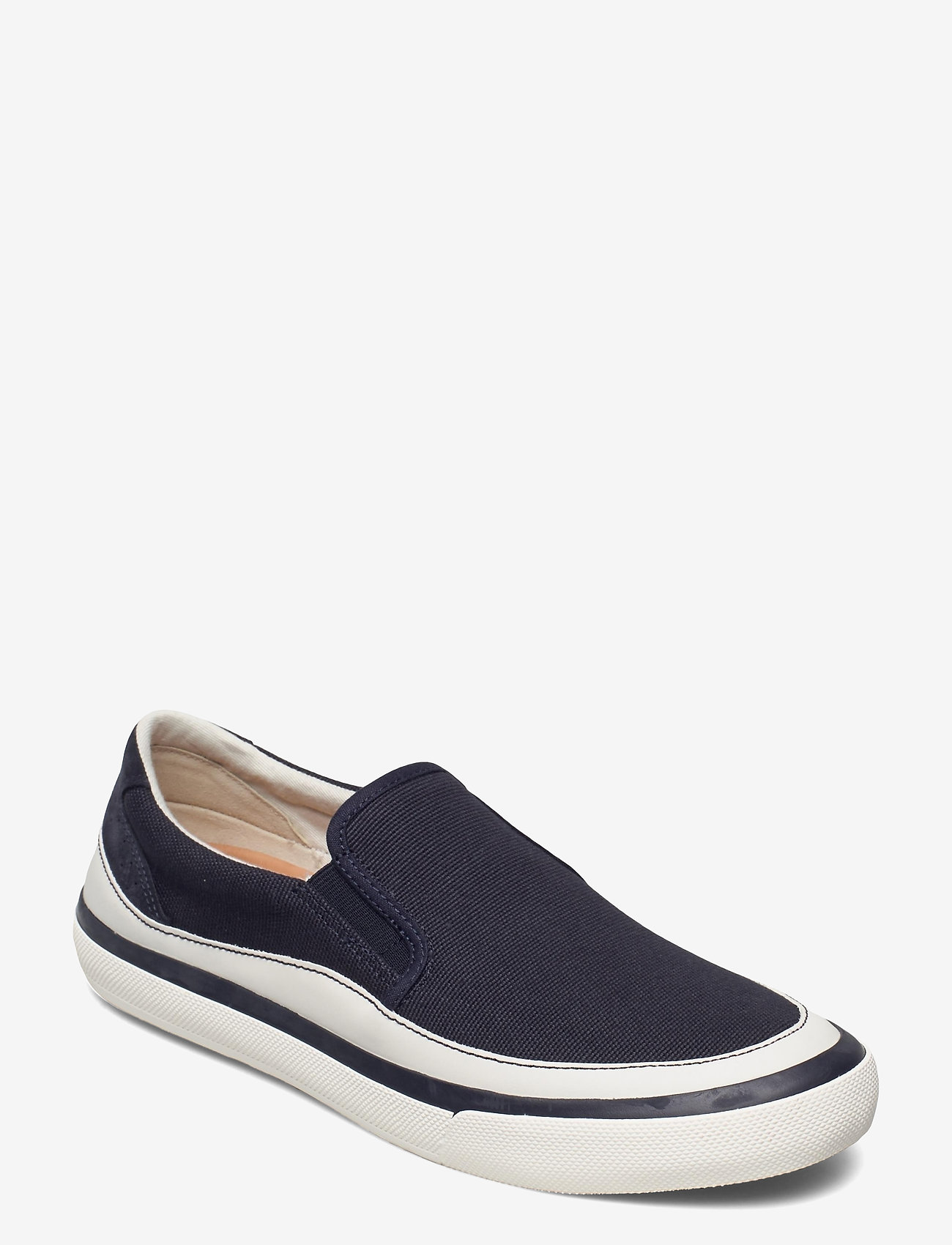 Clarks - Aceley Step - loafers - navy canvas - 0