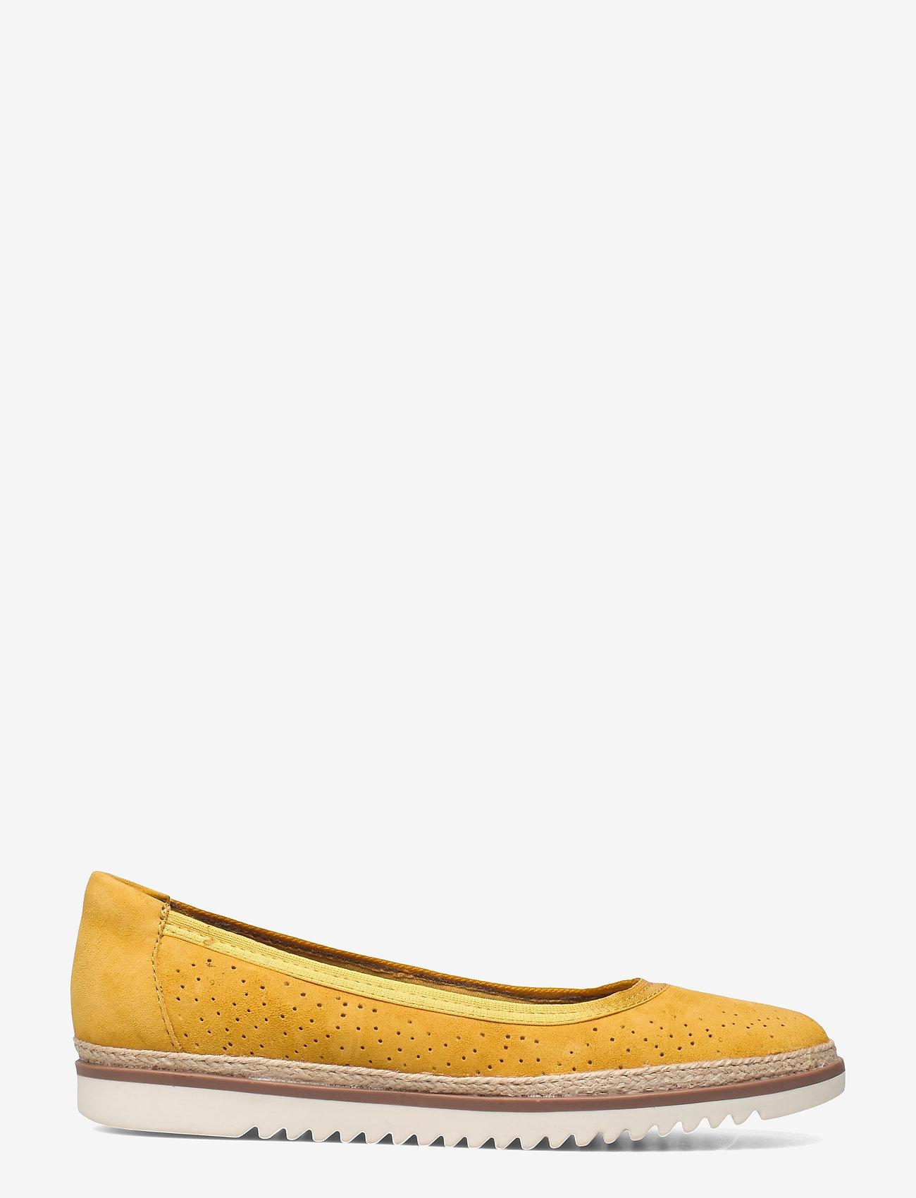 Clarks - Serena Kellyn - ballerines - yellow suede - 1