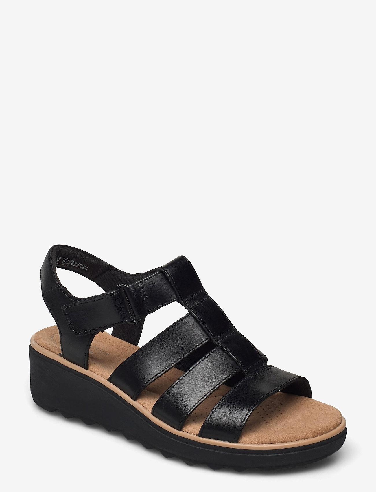 Clarks - Jillian Quartz - platta sandaler - black leather - 0