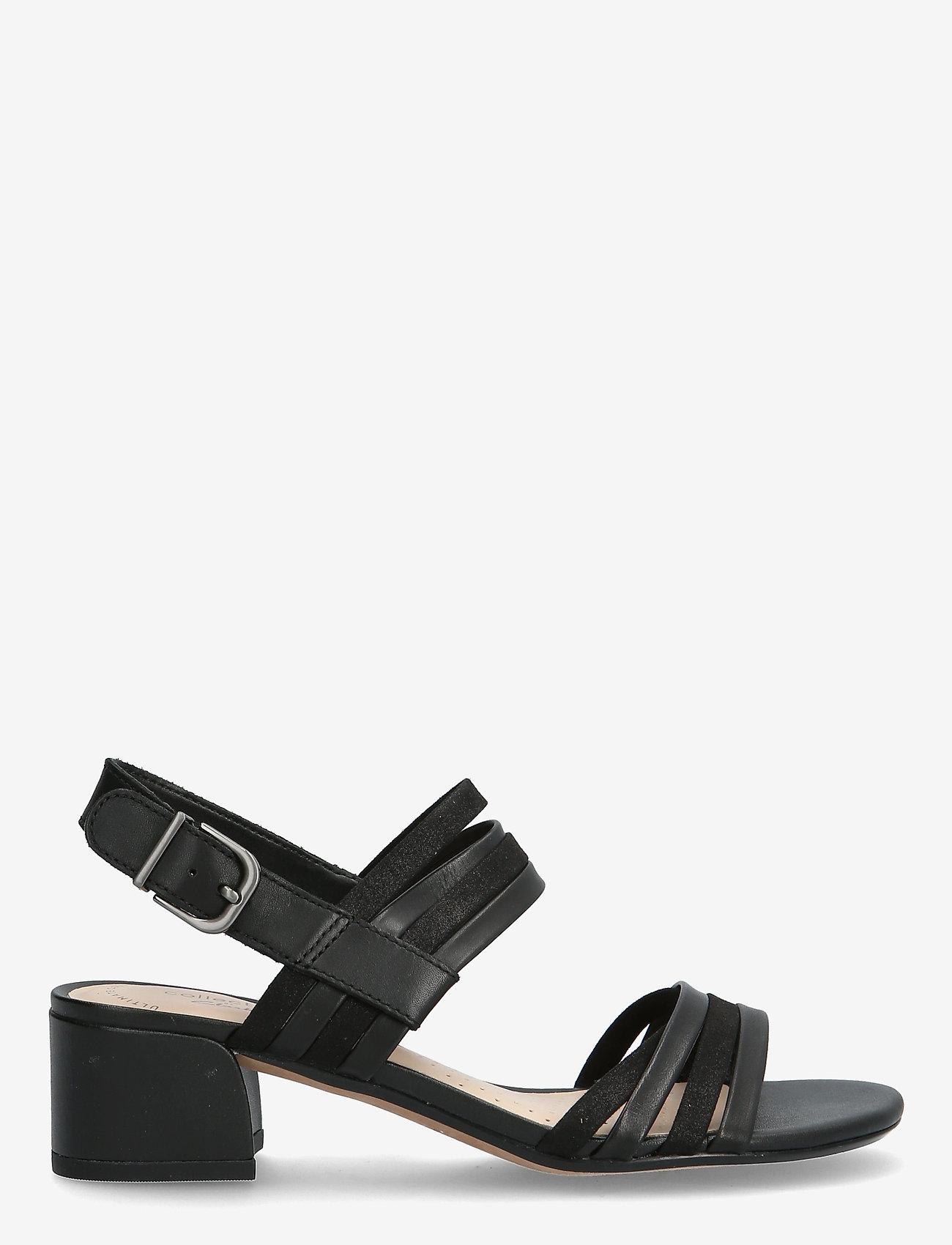 Clarks - Caroleigh Bess - högklackade sandaler - black combi - 1