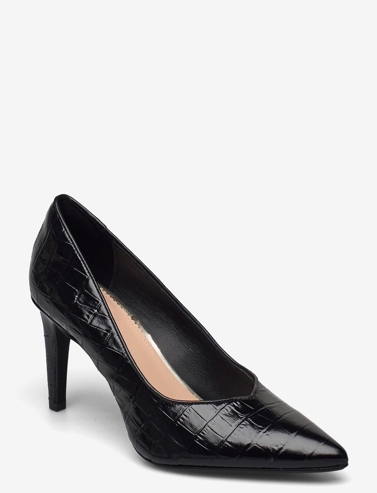Clarks - Genoa85 Court - klassiska pumps - black croc - 0
