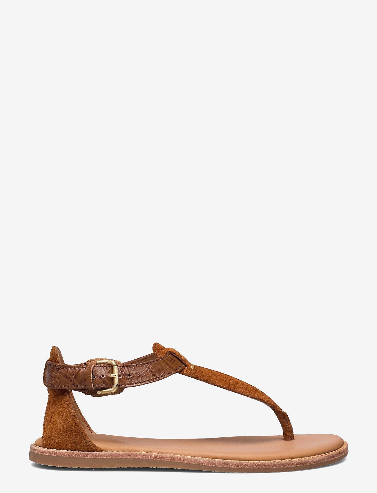 Clarks - Karsea Post - platta sandaler - tan leather - 0