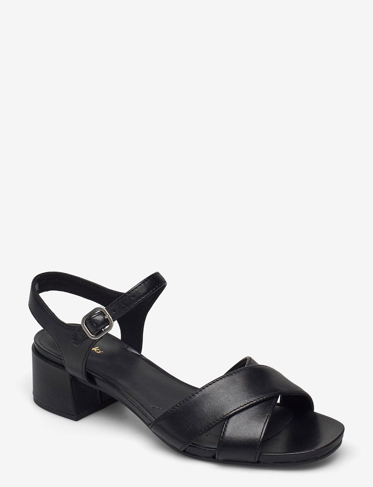 Clarks - Sheer35 Strap - högklackade sandaler - black smooth - 0