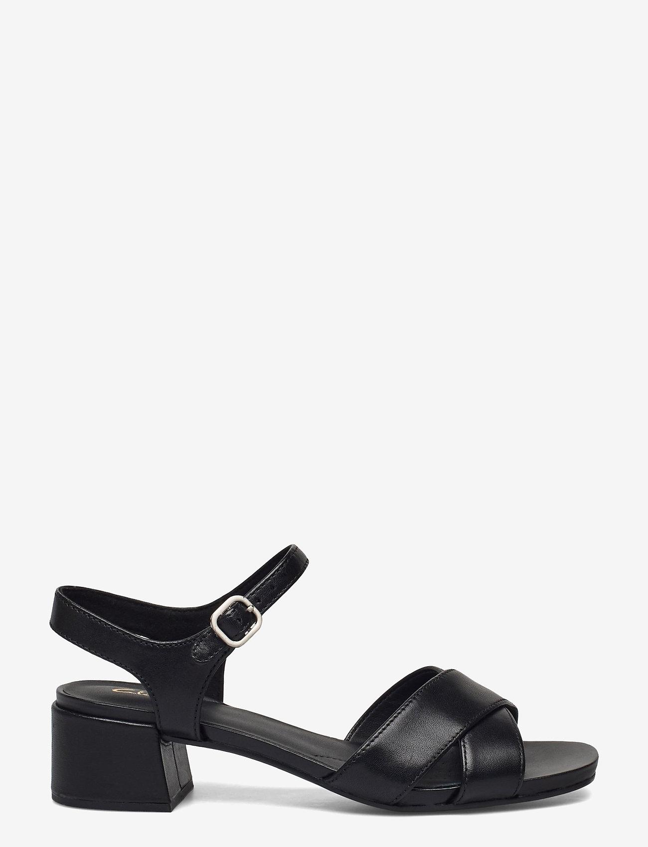 Clarks - Sheer35 Strap - högklackade sandaler - black smooth - 1