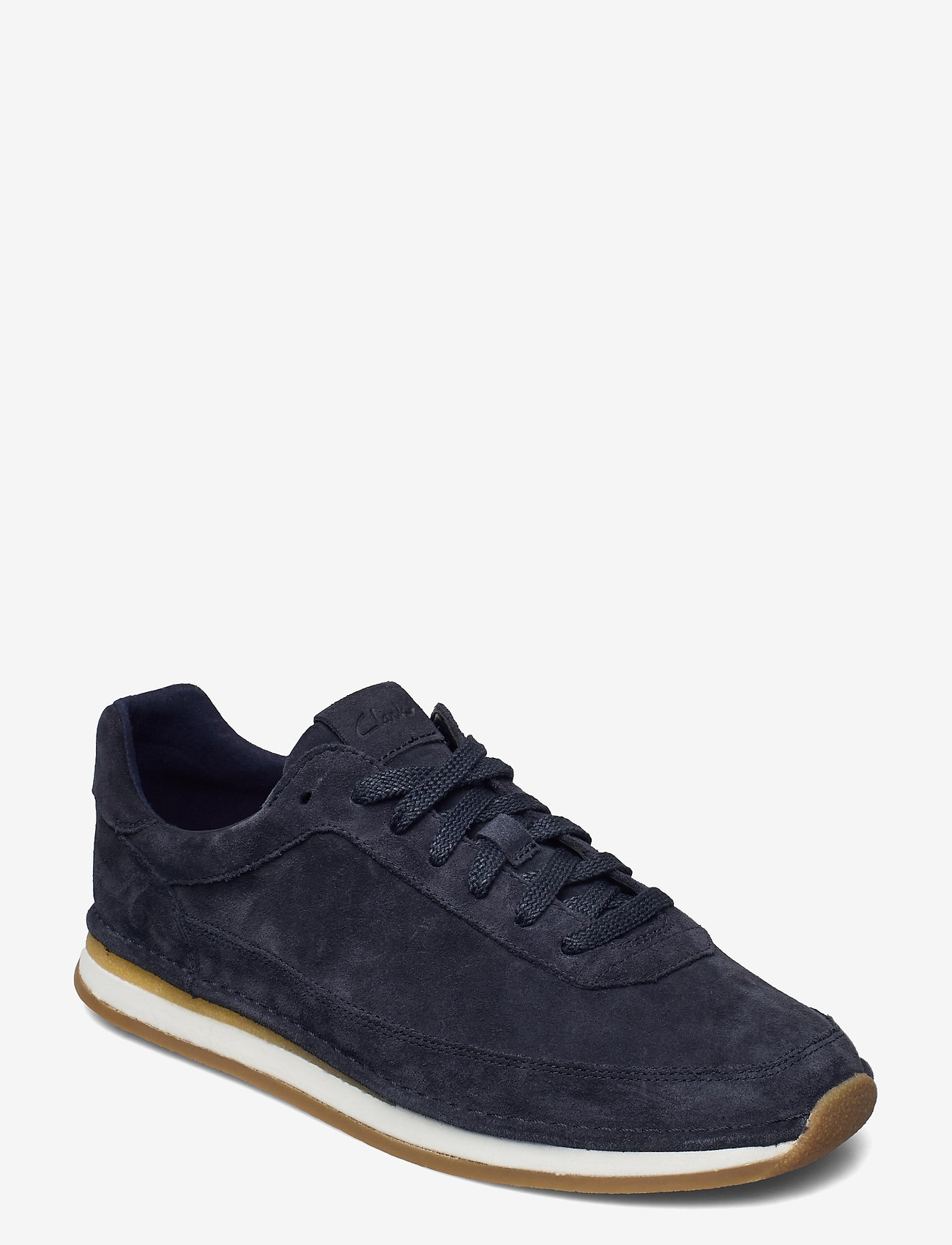 Clarks - CraftRun Lace - baskets basses - navy suede - 0