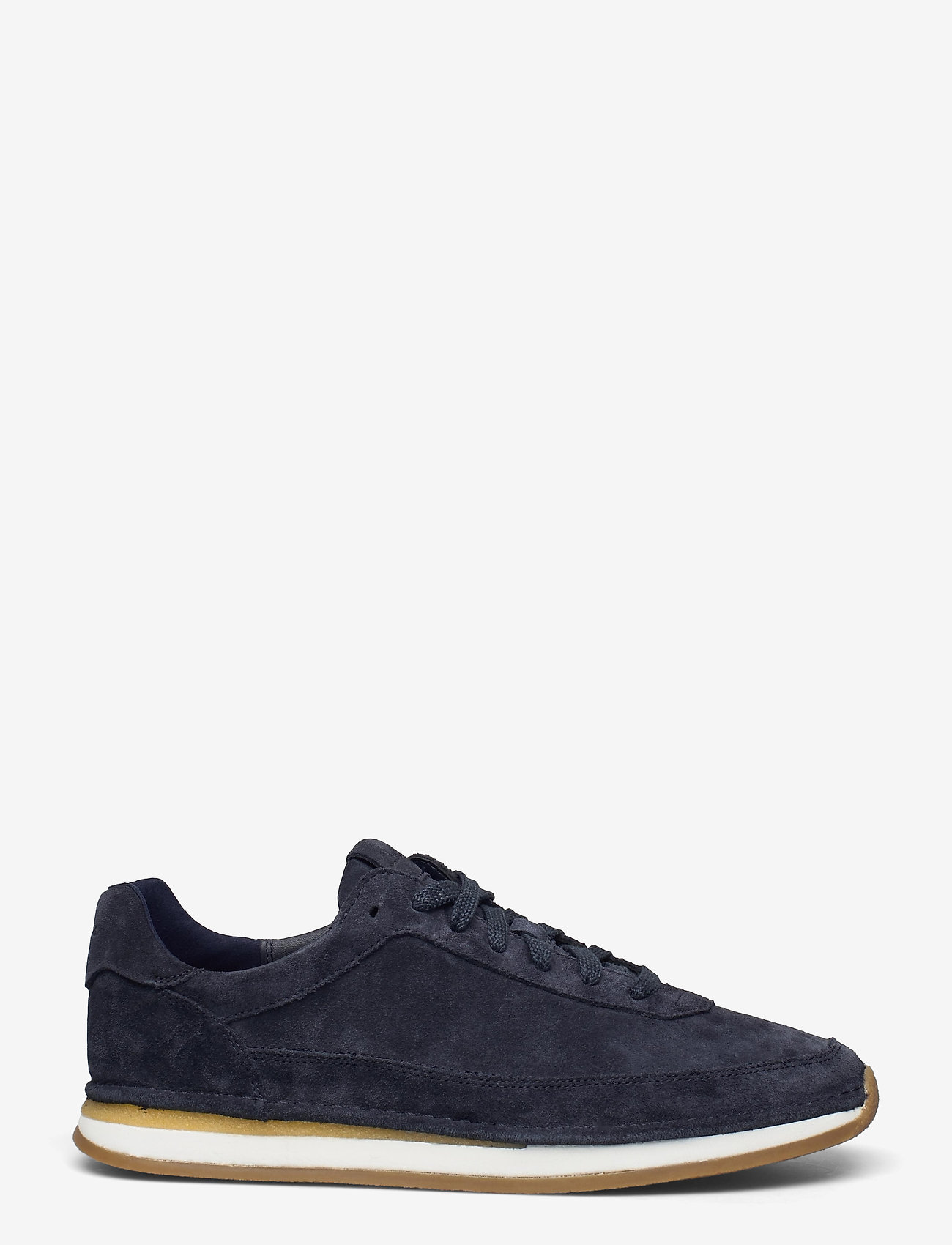Clarks - CraftRun Lace - baskets basses - navy suede - 1