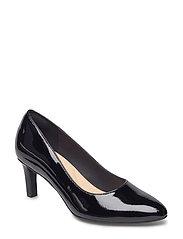 Calla Rose - Black Patent Leather