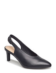 Calla Violet - Black Leather