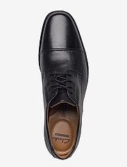 Clarks - Tilden Cap - snøresko - black leather - 3