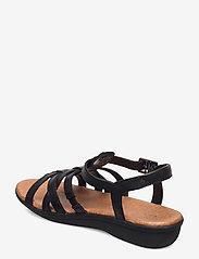Clarks - Manilla Bonita - platta sandaler - black leather - 2