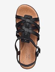 Clarks - Manilla Bonita - platta sandaler - black leather - 3
