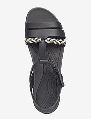 Clarks - Tealite Grace - platta sandaler - black leather - 3