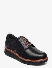 Clarks - Teadale Rhea - snörskor - black leather - 0