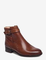 Clarks - Netley Olivia - flade ankelstøvler - tan leather - 0