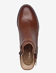 Clarks - Netley Olivia - flade ankelstøvler - tan leather - 3