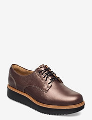 Clarks - Teadale Rhea - schnürschuhe - pewter leather - 0