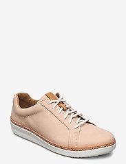 Clarks - Amberlee Rosa - lage sneakers - nude nubuck - 0