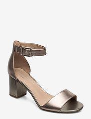 Clarks - Deva Mae - bröllopsskor - pewter leather - 0