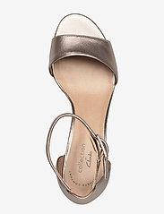 Clarks - Deva Mae - bröllopsskor - pewter leather - 3