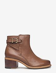 Clarks - Clarkdale Jax - ankelstøvler med hæl - dark tan lea - 1