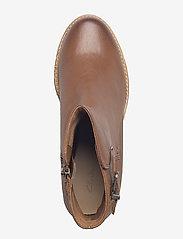 Clarks - Clarkdale Jax - ankelstøvler med hæl - dark tan lea - 3