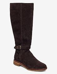 Clarks - Clarkdale Clad - lange laarzen - dark brown suede - 0