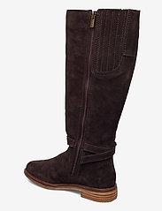 Clarks - Clarkdale Clad - lange laarzen - dark brown suede - 2