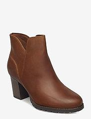 Clarks - Verona Trish - ankelstøvler med hæl - dark tan lea - 0