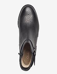 Clarks - Netley Olivia - flade ankelstøvler - black leather - 3