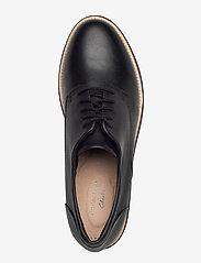 Clarks - Sharon Noel - buty sznurowane - black leather - 3