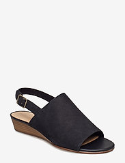 Clarks - Mena Lily - platta sandaler - black nubuck - 0