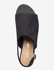Clarks - Mena Lily - platta sandaler - black nubuck - 3