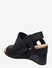 Clarks - Spiced Bay - espadrilles met sleehak - black leather - 2