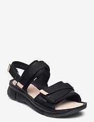 Clarks - Tri Walk - platta sandaler - black combi - 0