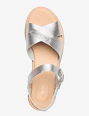 Clarks - Willow Gild - platta sandaler - silver metallic - 3