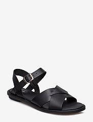 Clarks - Willow Gild - platta sandaler - black leather - 0