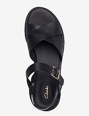 Clarks - Willow Gild - platta sandaler - black leather - 3