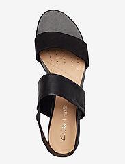 Clarks - Sense Lily - platta sandaler - black combi - 3