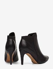 Clarks - Laina Violet - ankelstøvler med hæl - black leather - 4