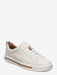 Clarks - Un Maui Lace - låga sneakers - white leather - 0